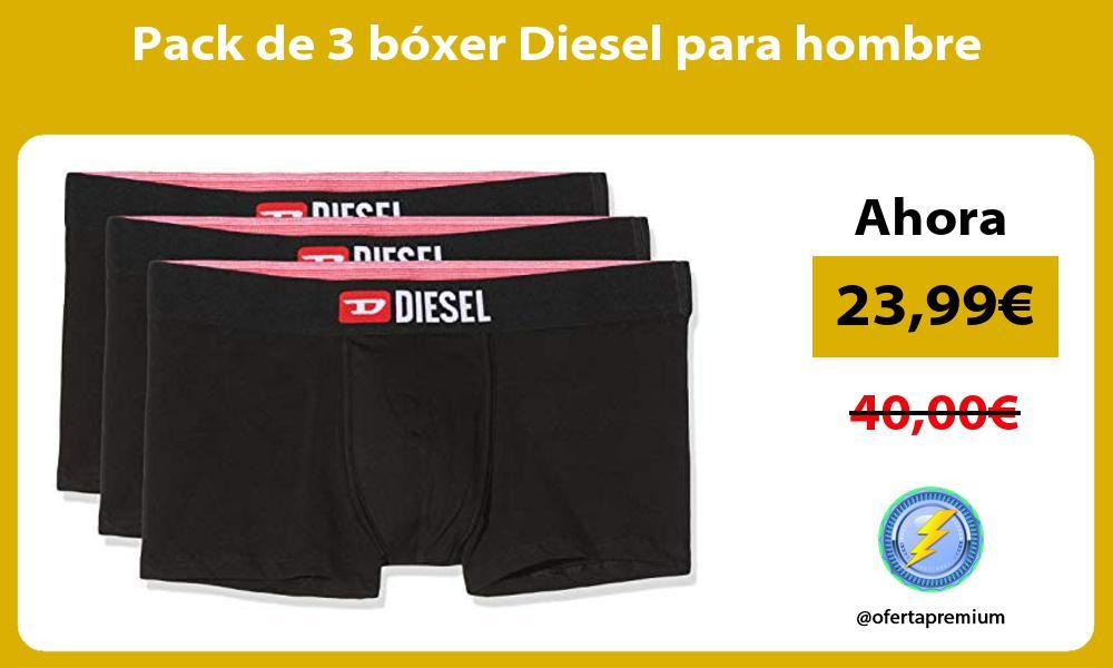 Pack de 3 bóxer Diesel para hombre