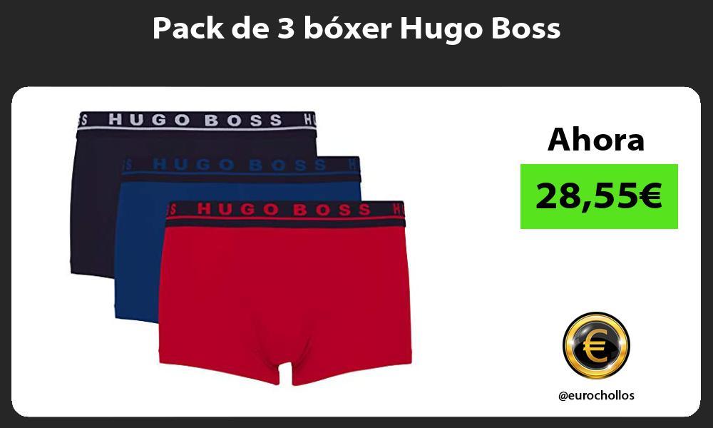 Pack de 3 bóxer Hugo Boss