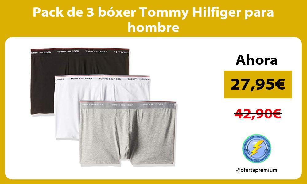 Pack de 3 bóxer Tommy Hilfiger para hombre