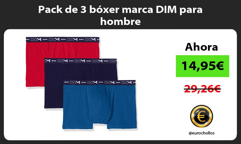 Pack de 3 bóxer marca DIM para hombre
