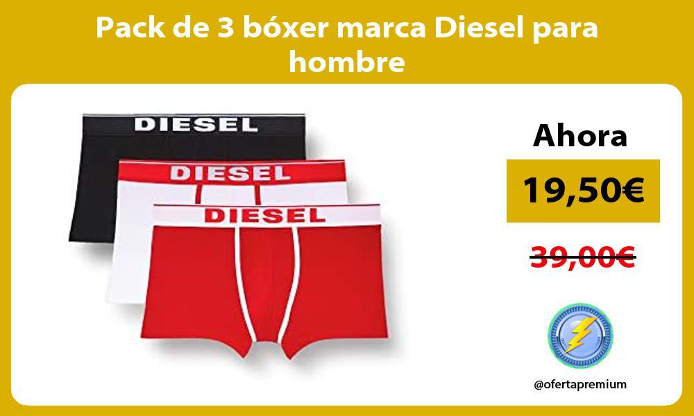 Pack de 3 bóxer marca Diesel para hombre