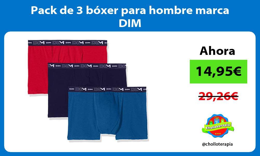 Pack de 3 bóxer para hombre marca DIM