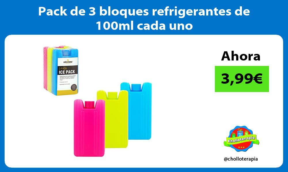 Pack de 3 bloques refrigerantes de 100ml cada uno
