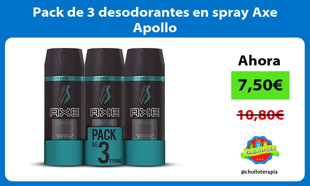 Pack de 3 desodorantes en spray Axe Apollo