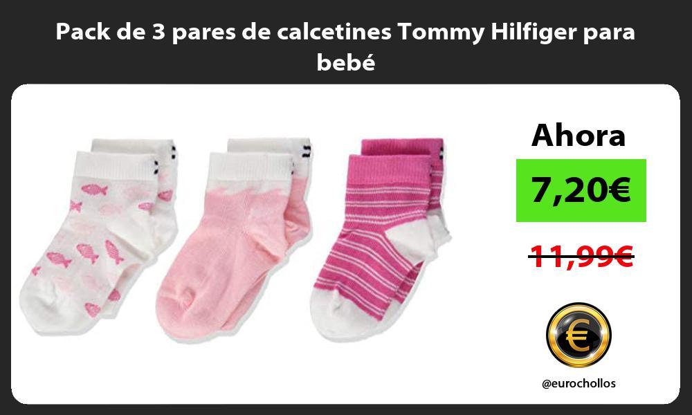 Pack de 3 pares de calcetines Tommy Hilfiger para bebé