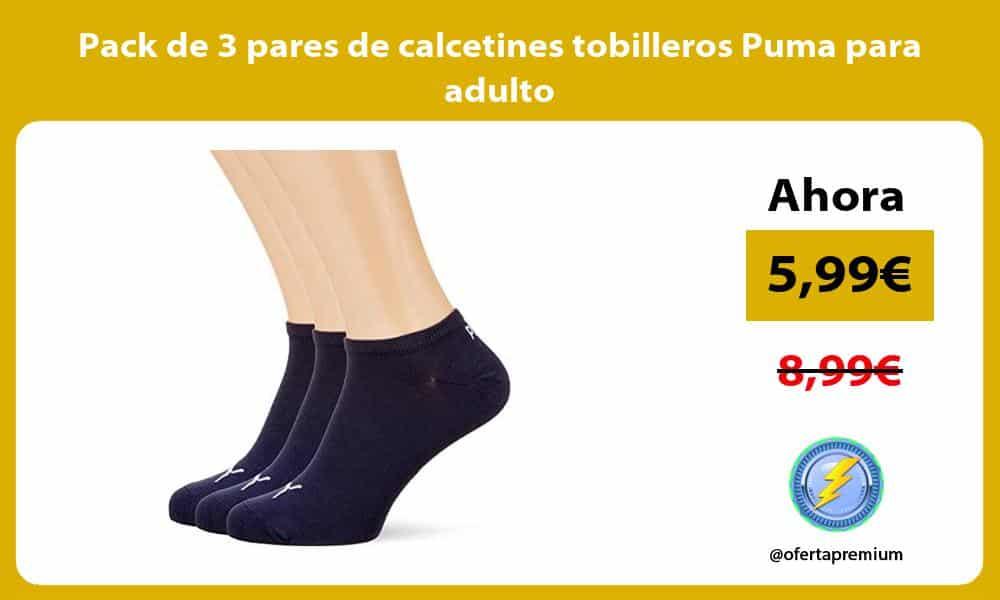 Pack de 3 pares de calcetines tobilleros Puma para adulto