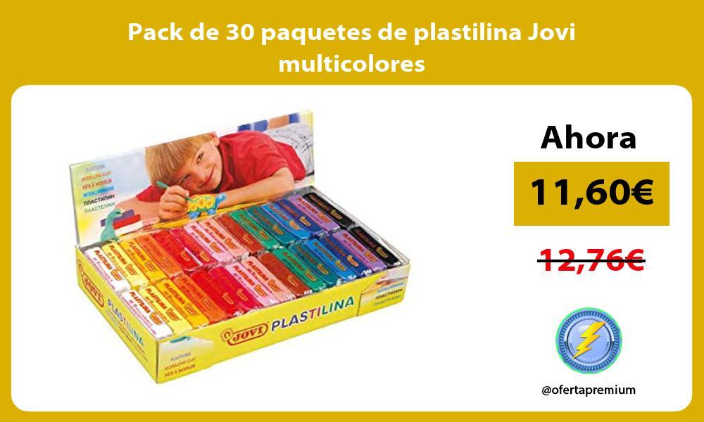Pack de 30 paquetes de plastilina Jovi multicolores