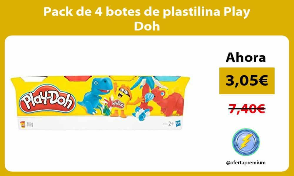 Pack de 4 botes de plastilina Play Doh