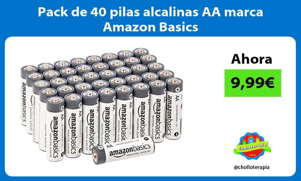 Pack de 40 pilas alcalinas AA marca Amazon Basics