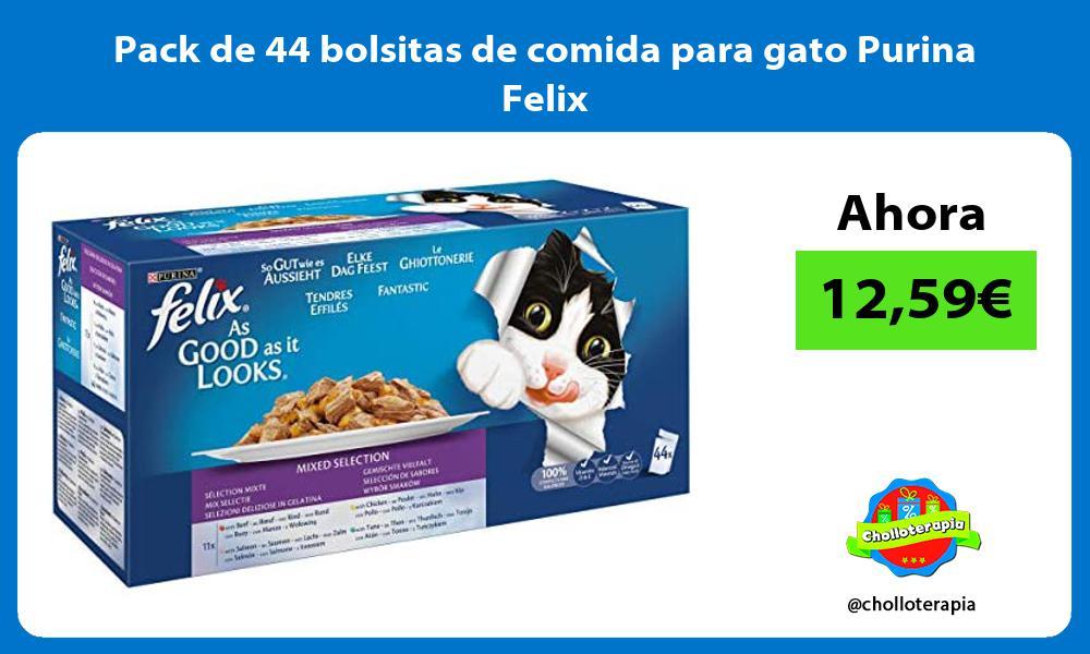 Pack de 44 bolsitas de comida para gato Purina Felix