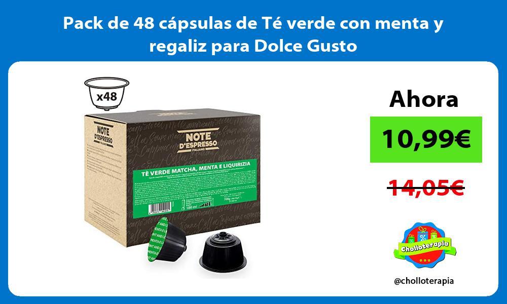 Pack de 48 cápsulas de Té verde con menta y regaliz para Dolce Gusto