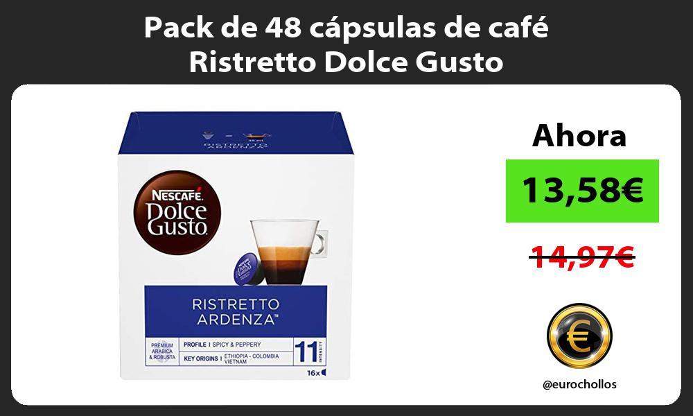 Pack de 48 cápsulas de café Ristretto Dolce Gusto