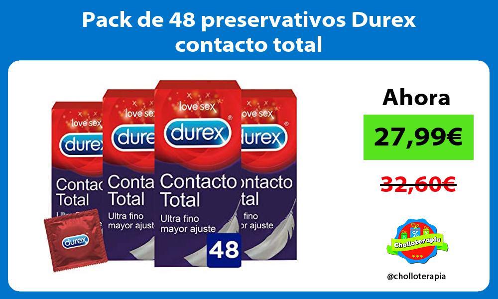 Pack de 48 preservativos Durex contacto total