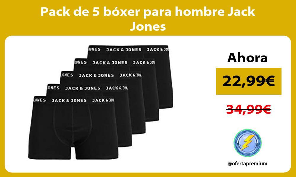 Pack de 5 bóxer para hombre Jack Jones