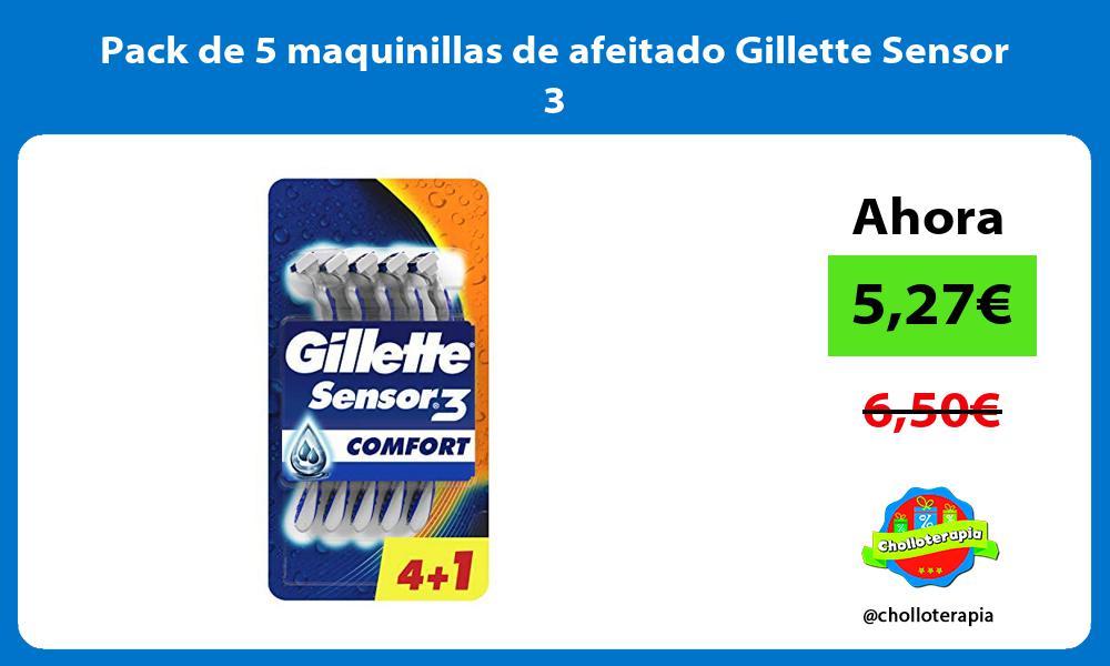 Pack de 5 maquinillas de afeitado Gillette Sensor 3