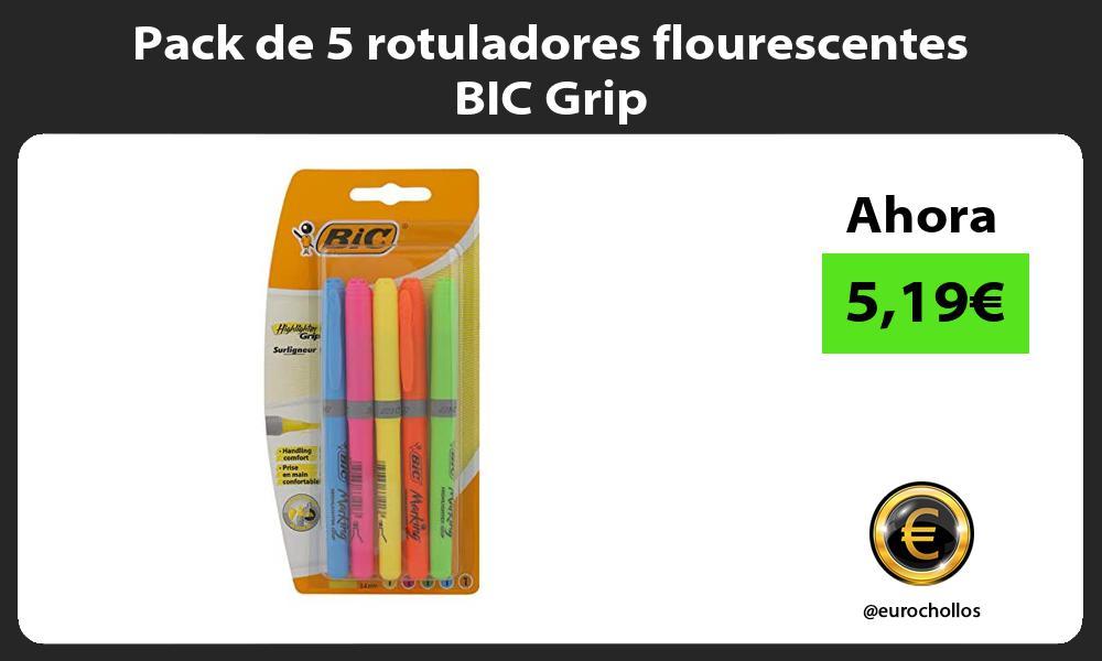 Pack de 5 rotuladores flourescentes BIC Grip