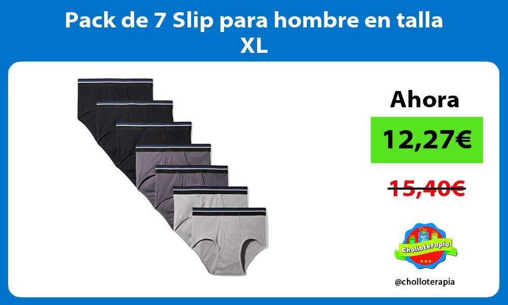 Pack de 7 Slip para hombre en talla XL