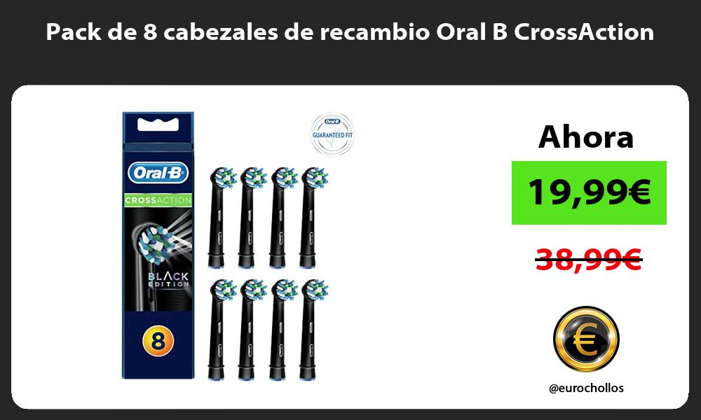 Pack de 8 cabezales de recambio Oral B CrossAction