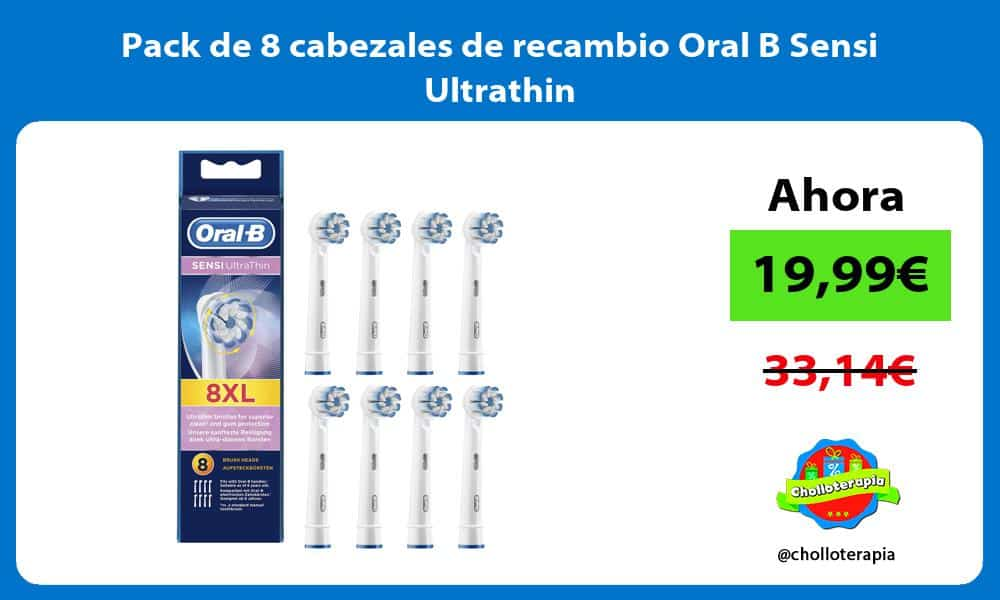 Pack de 8 cabezales de recambio Oral B Sensi Ultrathin