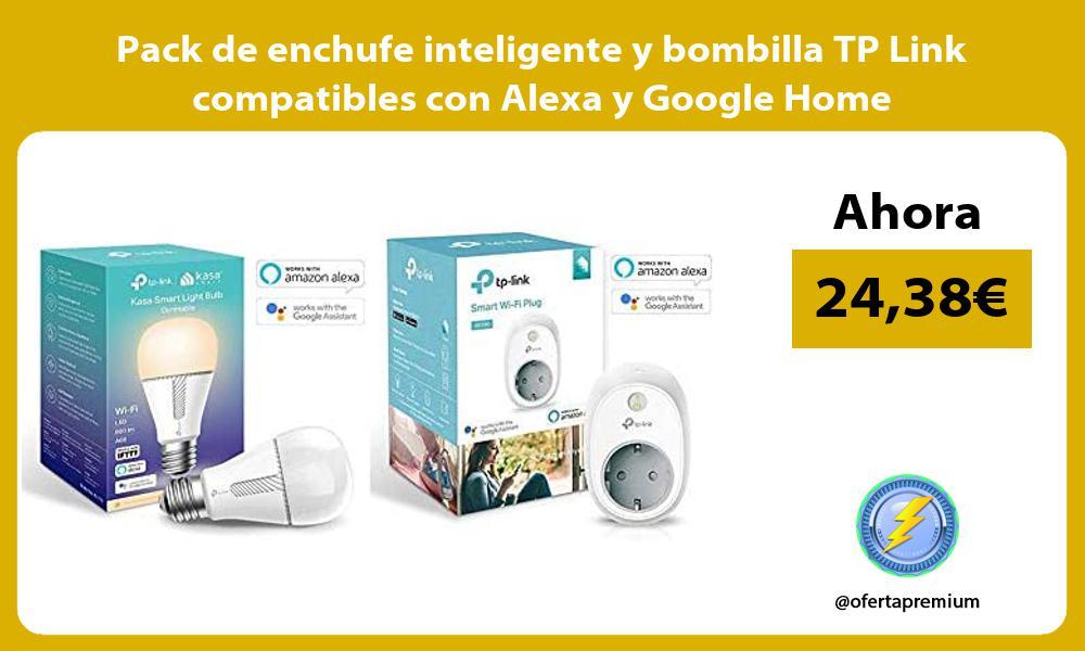 Pack de enchufe inteligente y bombilla TP Link compatibles con Alexa y Google Home