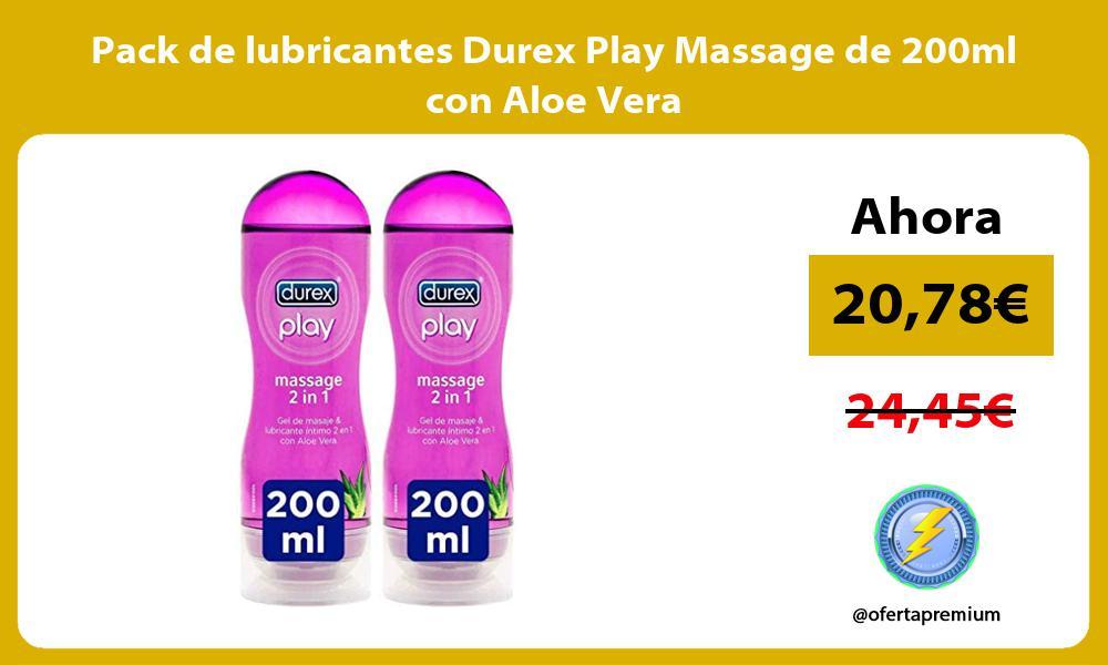 Pack de lubricantes Durex Play Massage de 200ml con Aloe Vera
