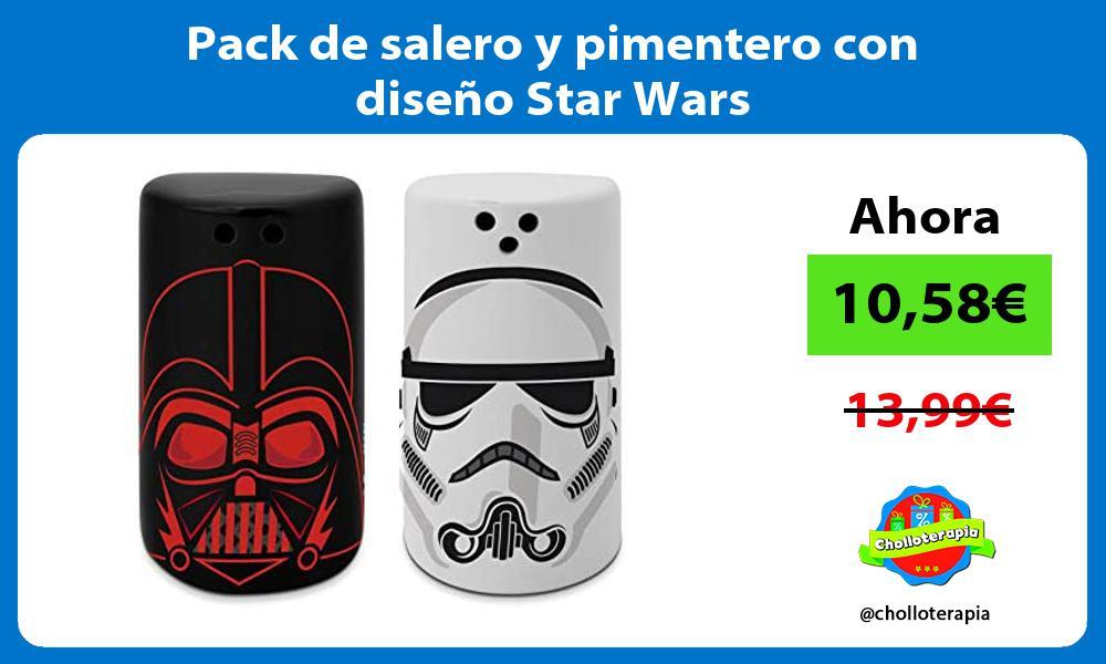 Pack de salero y pimentero con diseño Star Wars