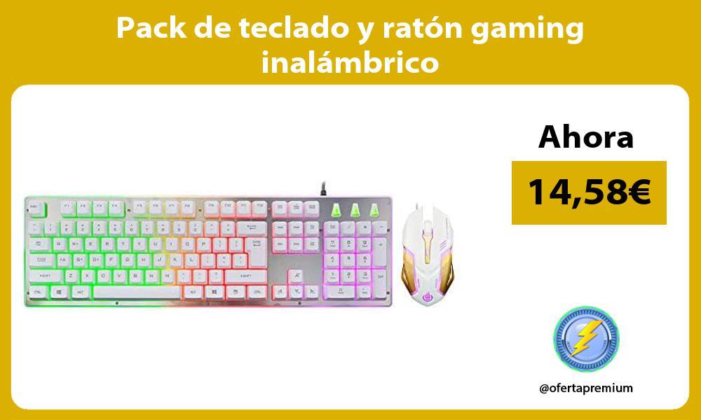 Pack de teclado y ratón gaming inalámbrico