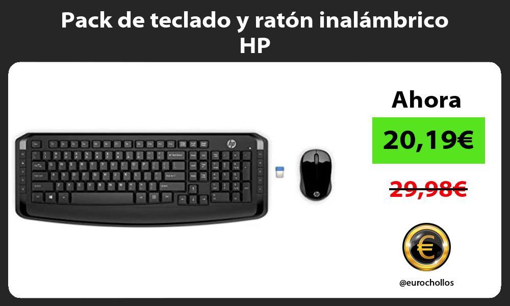Pack de teclado y ratón inalámbrico HP