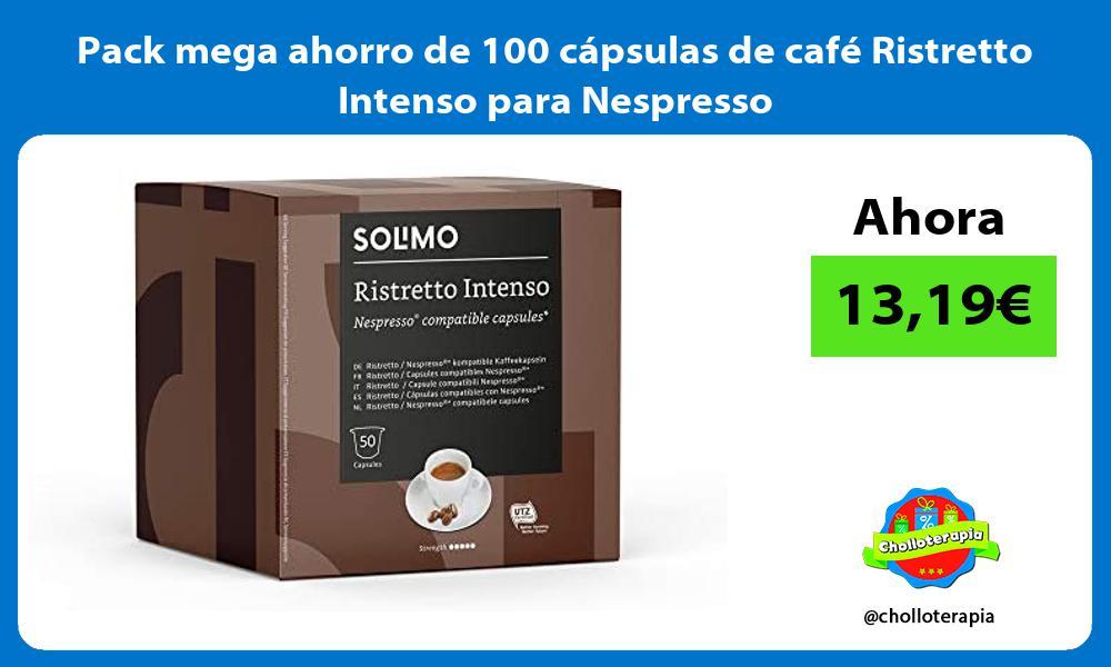 Pack mega ahorro de 100 cápsulas de café Ristretto Intenso para Nespresso