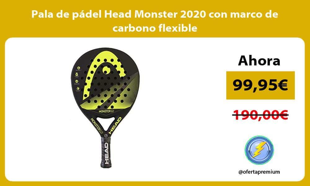 Pala de pádel Head Monster 2020 con marco de carbono flexible