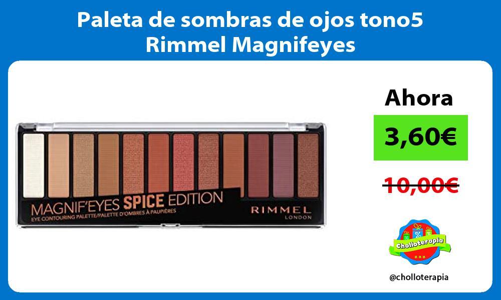 Paleta de sombras de ojos tono5 Rimmel Magnifeyes