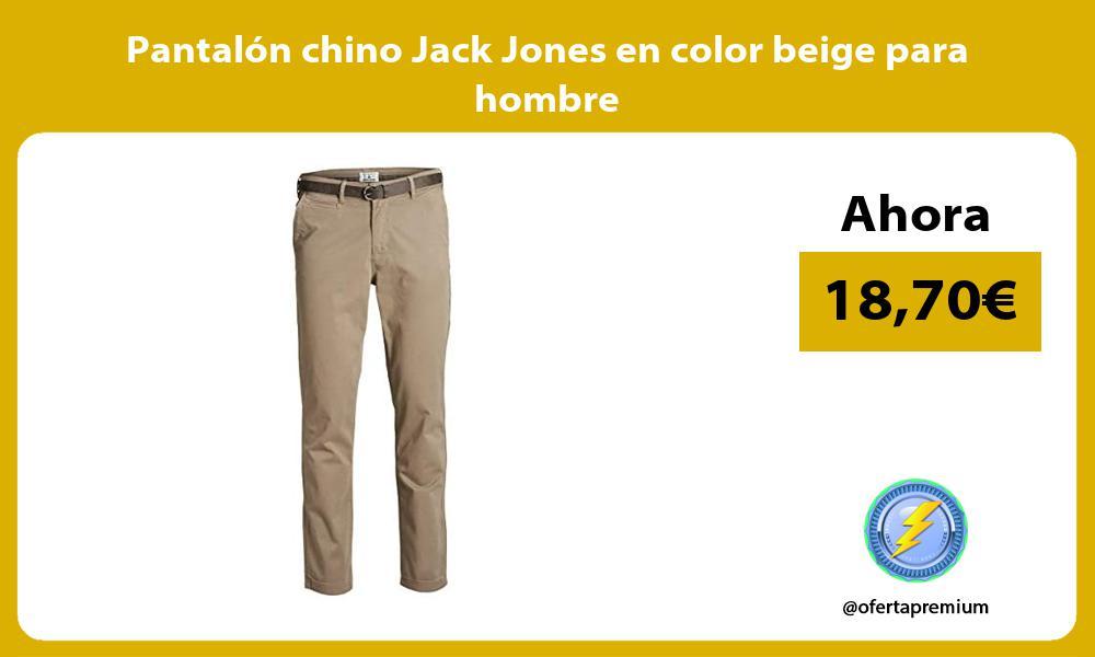 Pantalón chino Jack Jones en color beige para hombre