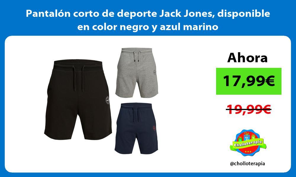 Pantalón corto de deporte Jack Jones disponible en color negro y azul marino