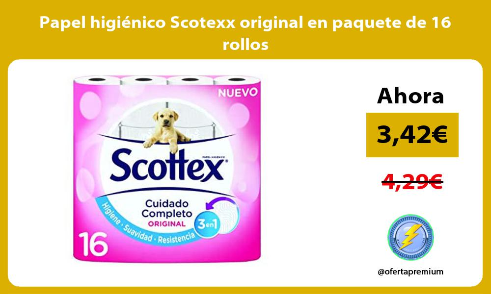 Papel higiénico Scotexx original en paquete de 16 rollos