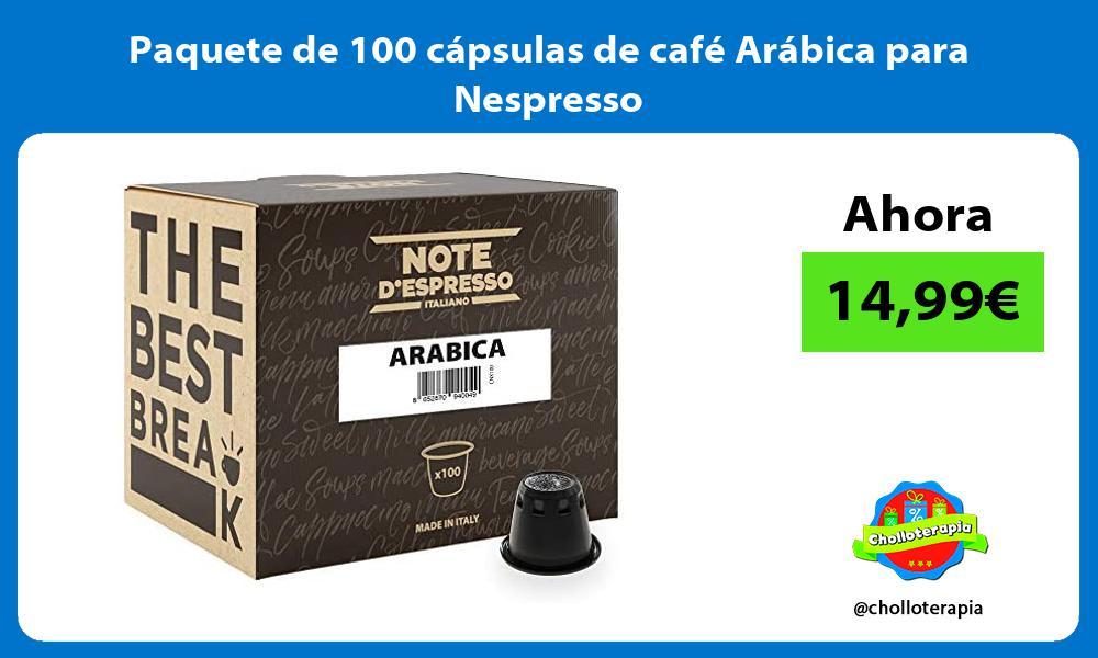 Paquete de 100 cápsulas de café Arábica para Nespresso
