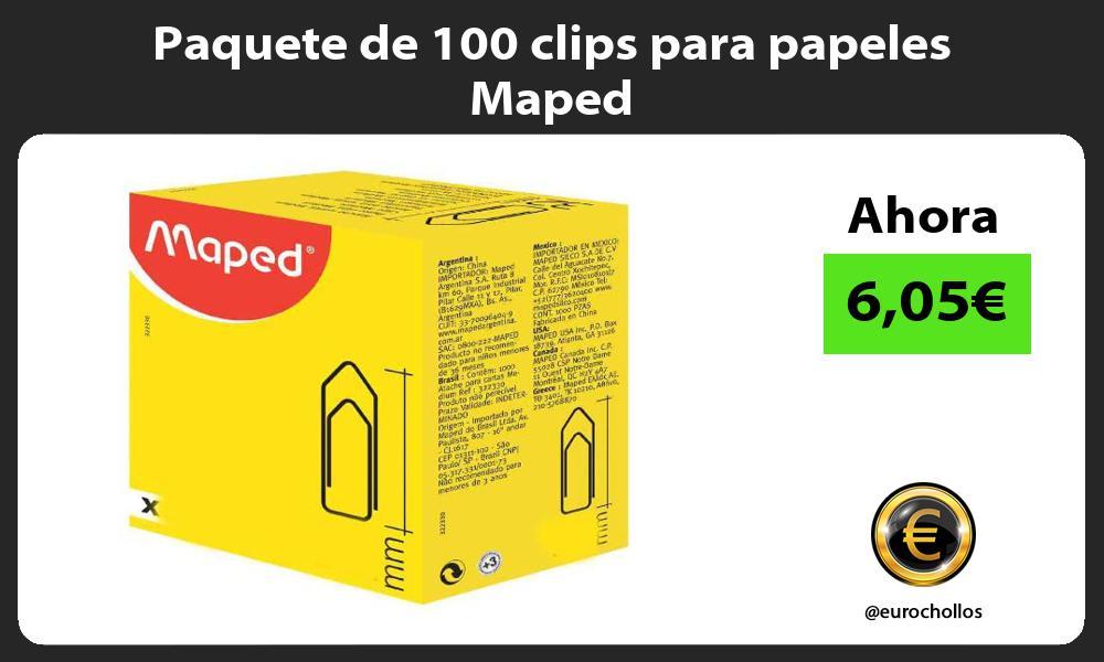 Paquete de 100 clips para papeles Maped