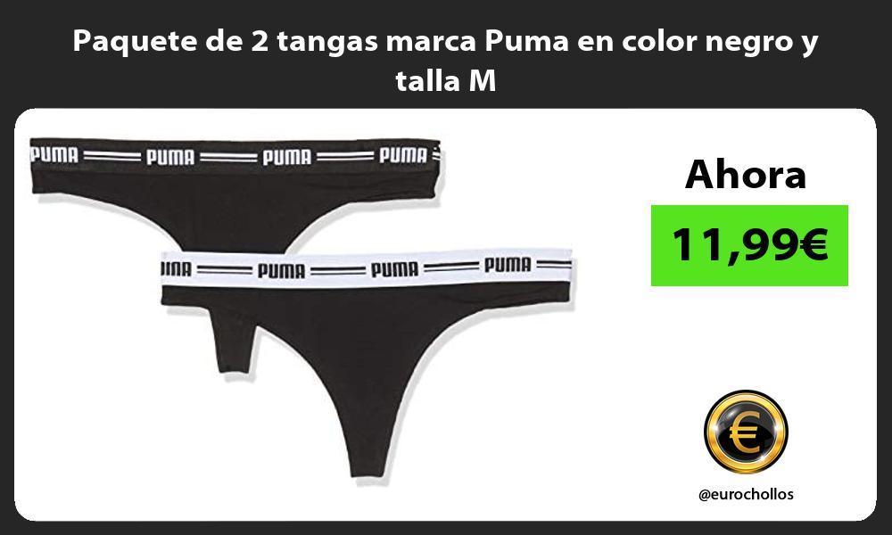 Paquete de 2 tangas marca Puma en color negro y talla M