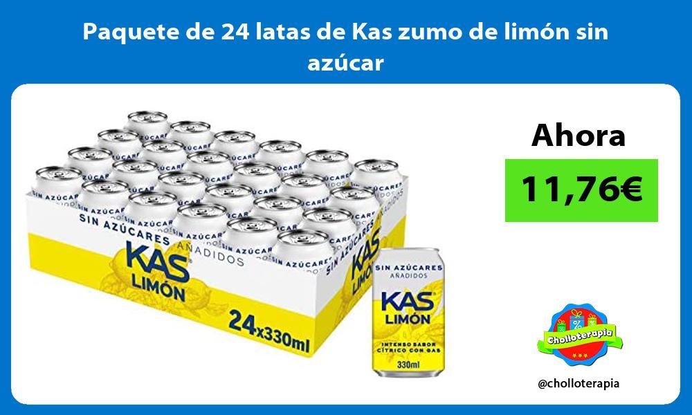 Paquete de 24 latas de Kas zumo de limón sin azúcar
