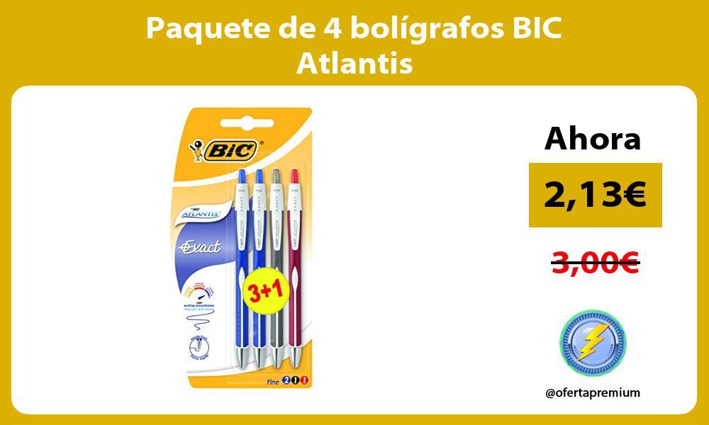 Paquete de 4 bolígrafos BIC Atlantis