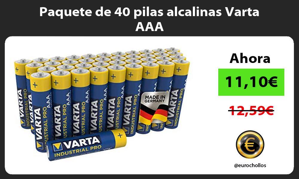 Paquete de 40 pilas alcalinas Varta AAA