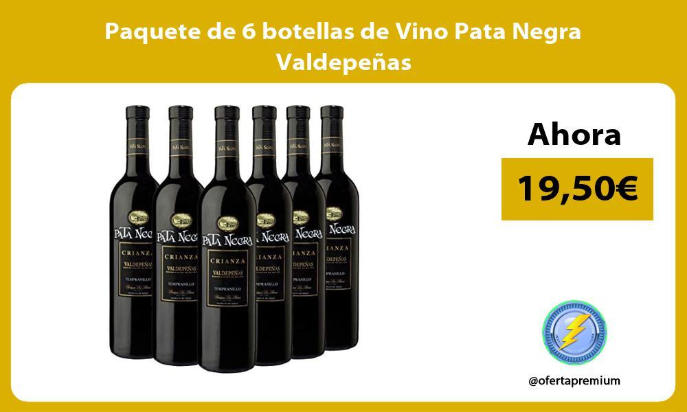 Paquete de 6 botellas de Vino Pata Negra Valdepeñas
