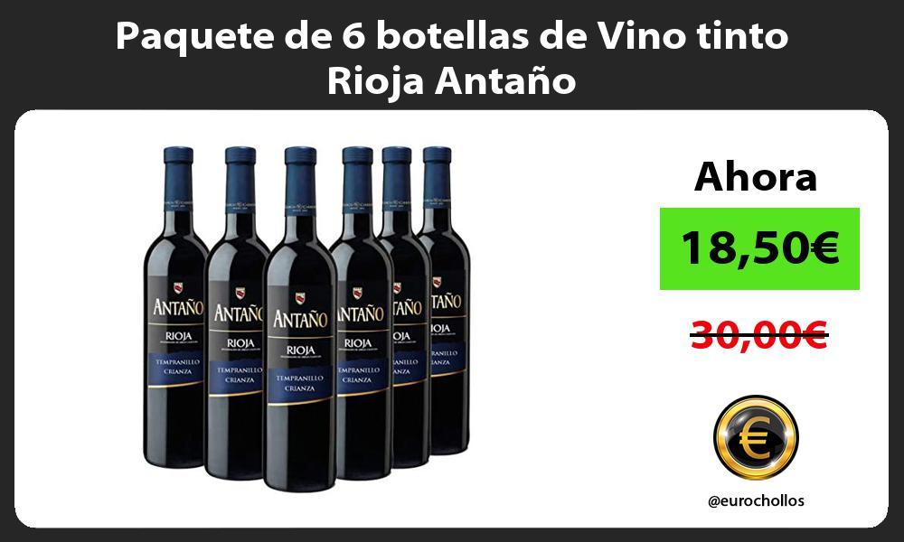 Paquete de 6 botellas de Vino tinto Rioja Antaño