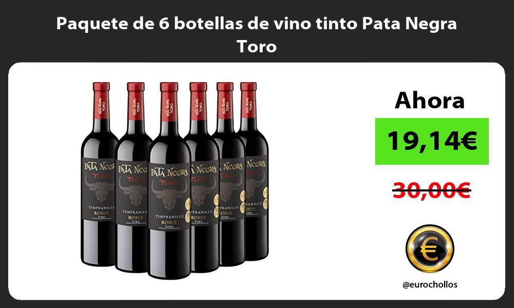Paquete de 6 botellas de vino tinto Pata Negra Toro