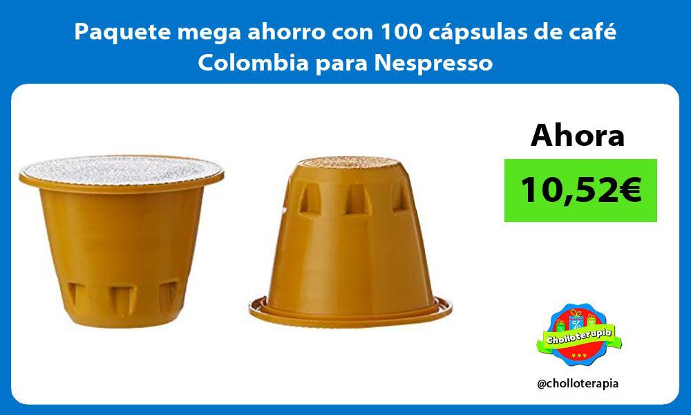 Paquete mega ahorro con 100 cápsulas de café Colombia para Nespresso