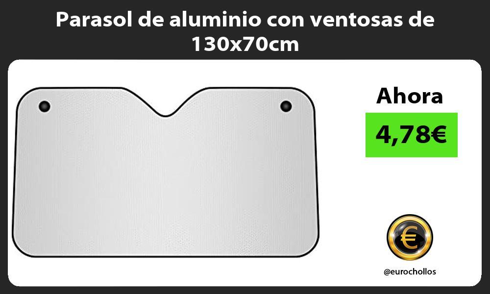 Parasol de aluminio con ventosas de 130x70cm