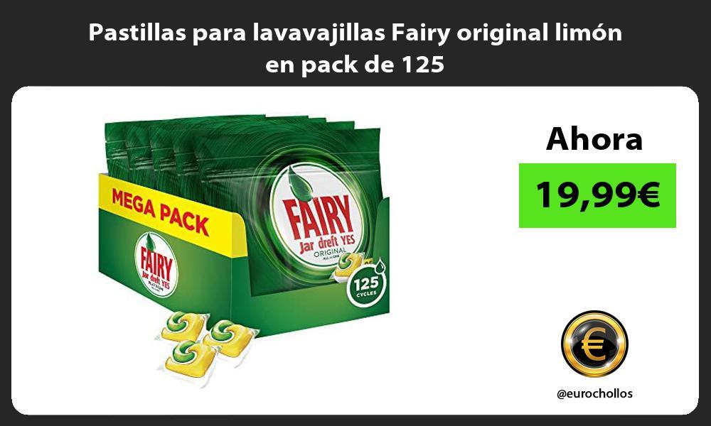 Pastillas para lavavajillas Fairy original limón en pack de 125