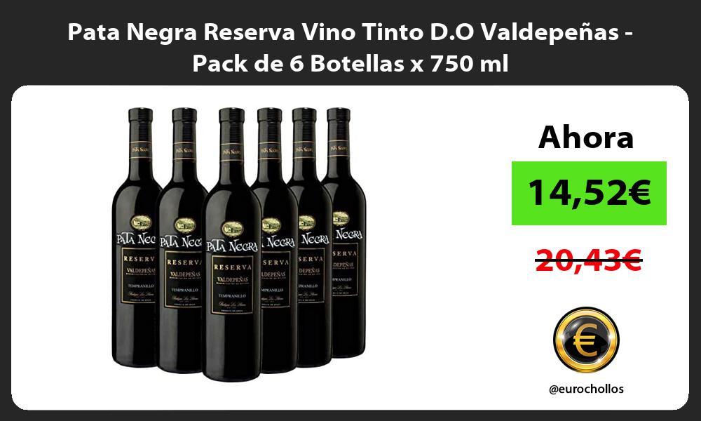 Pata Negra Reserva Vino Tinto D O Valdepeñas Pack de 6 Botellas x 750 ml