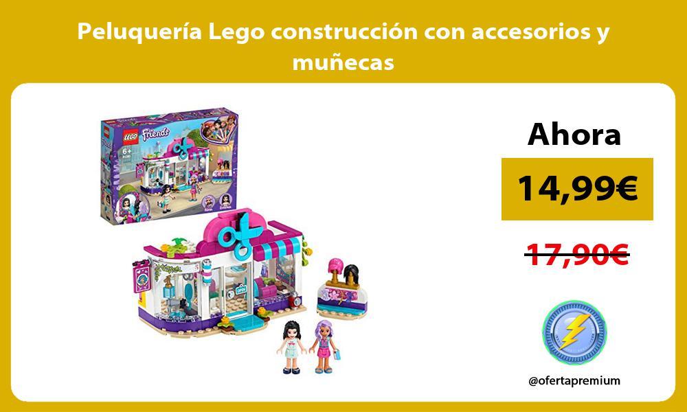 Peluquería Lego construcción con accesorios y muñecas