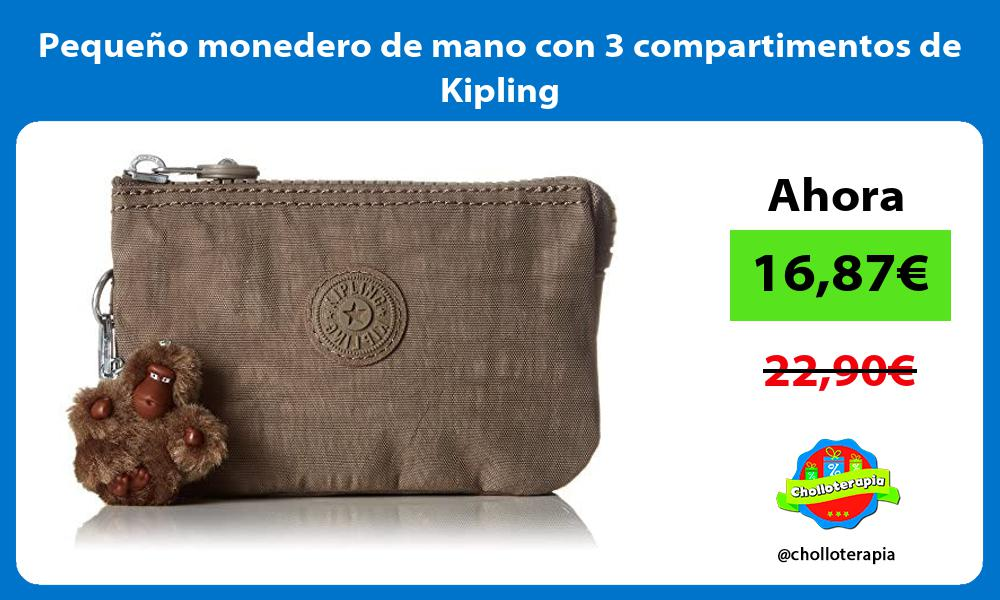 Pequeño monedero de mano con 3 compartimentos de Kipling