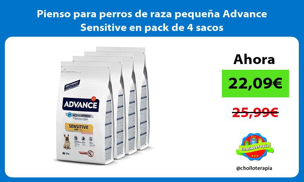 Pienso para perros de raza pequeña Advance Sensitive en pack de 4 sacos